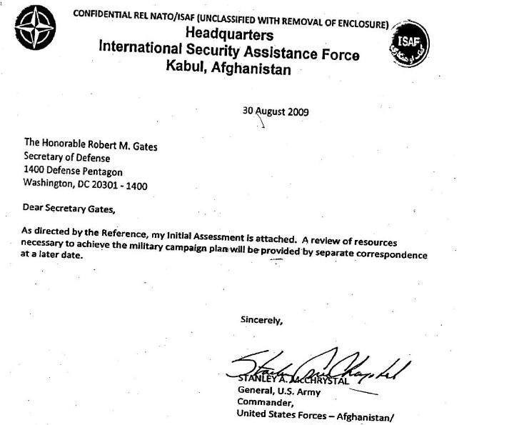Zpráva generála McChrystala