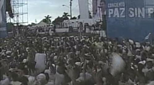 Koncert Mír bez hranic v Havaně