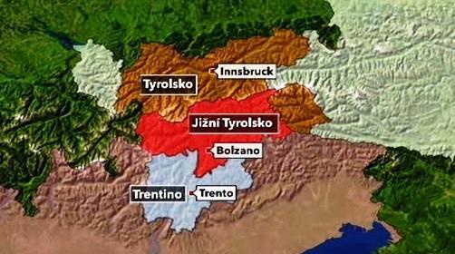 Tyrolsko - mapa