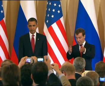 Obama s Medveděvem