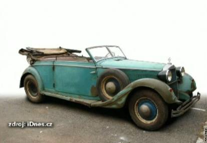 Auto, ve kterém zřejmě zasáhlii Heydricha