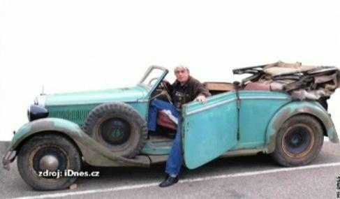 Auto, v němž byl zřejmě spáchán atentát na Heydricha