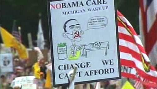 Karikatura Baracka Obamy