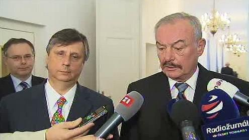 Jan Fischer a Přemysl Sobotka