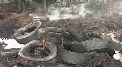 Shořelé pneumatiky