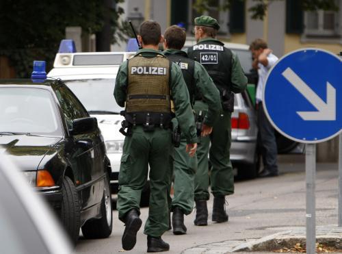Policie zasahující v Ansbachu