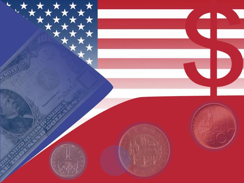 Koruna a dolar