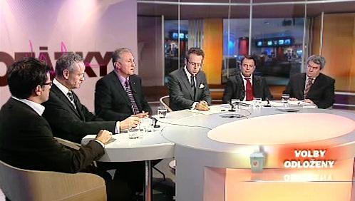 Otázky Václava Moravce s lídry parlamentních stran