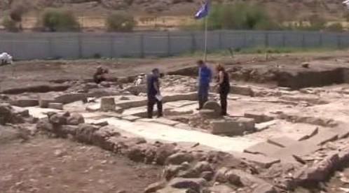 Pozůstatky synagogy na břehu Galilejského jezera