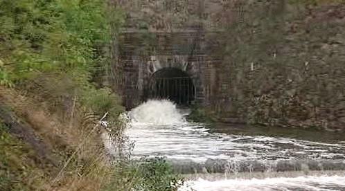 Vypouštění plumlovské přehrady