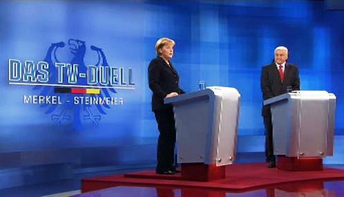 Angela Merkelová a Frank-Walter Steinmeier