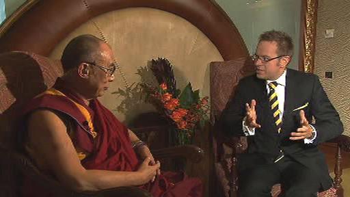 Dalajláma v pořadu Otázky Václava Moravce