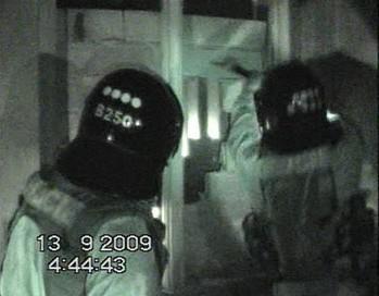 Policejní zásah na squattery