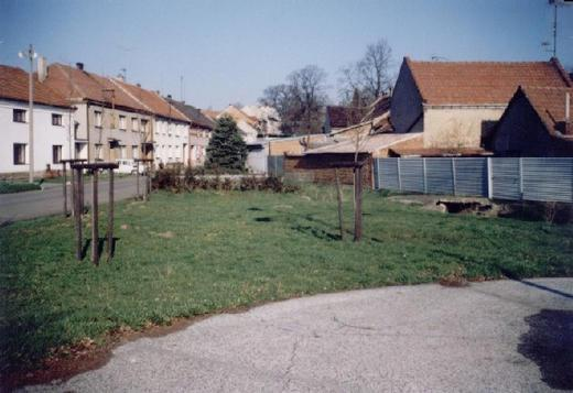 Náves obce Tučín