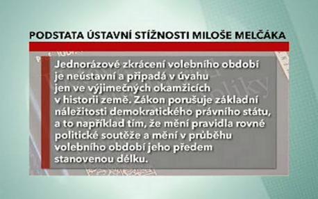 Stížnost Miloše Melčáka