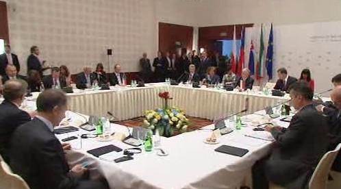Prezidenti visegrádské čtyřky na schůzce v polských Sopotech
