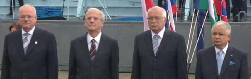 Ivan Gašparovič, László Sólyom, Václav Klaus a Lech Kaczyński
