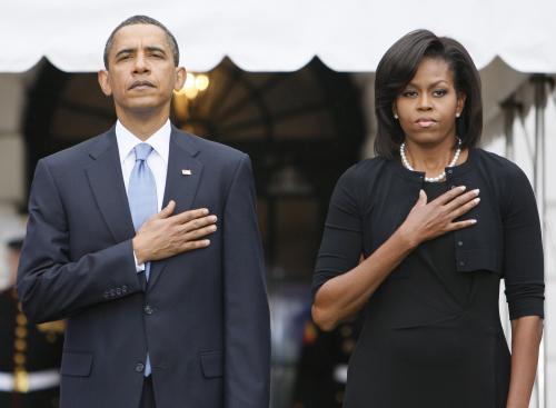 Barack Obama se svou ženou Michelle