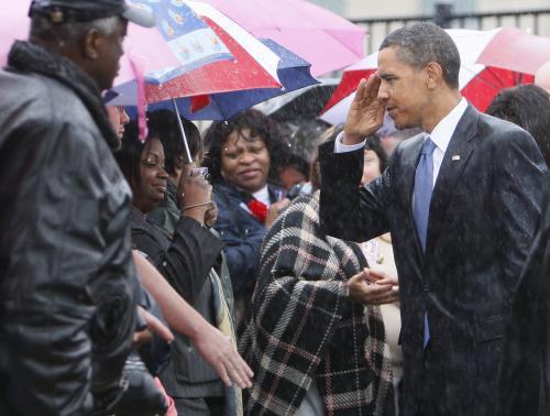 Barack Obama na pietním shromáždění