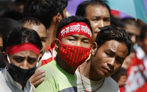 Demonstrace v Nepálu