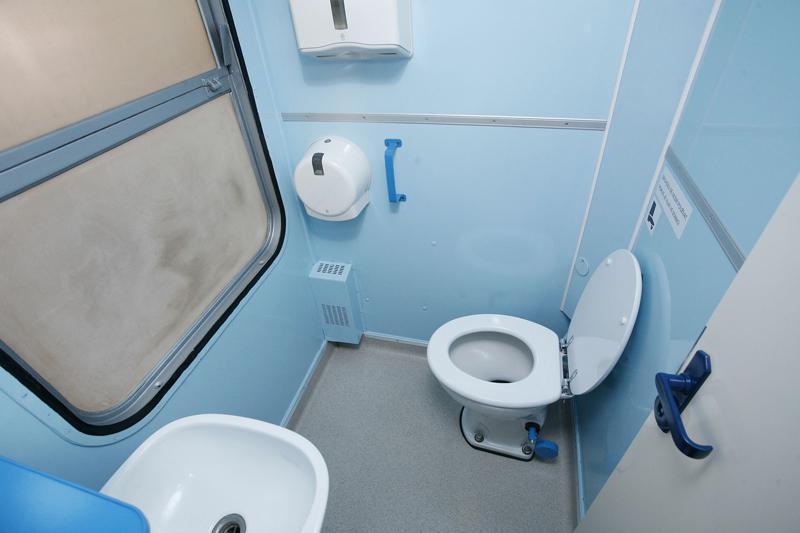 Toaleta ve vagonu první třídy