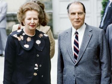 Margaret Tatcherová a Francois Mitterrand