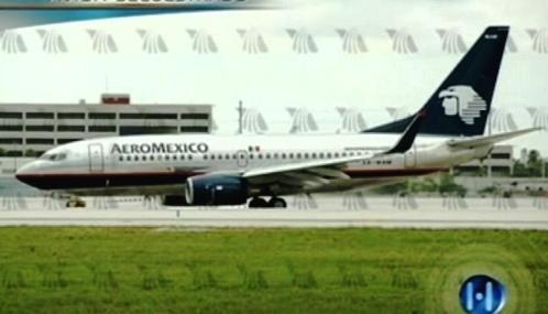 Unesené letadlo společnosti AeroMexico