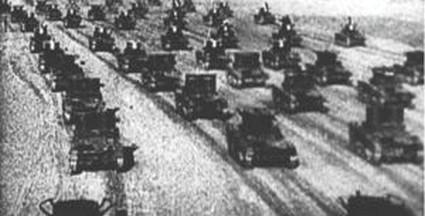 Útok německých tanků na Polsko