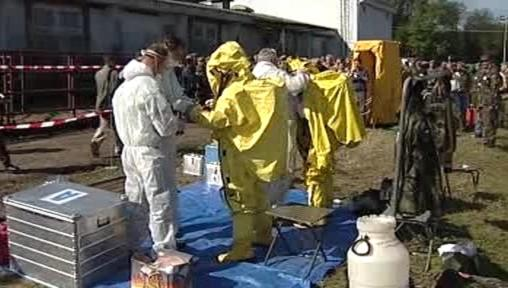 Nácvik protichemické jednotky