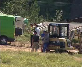 Vyšetřování na místě nehody v Ludvíkovicích
