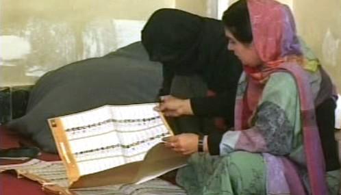 Sčítání hlasů v Afghánistánu