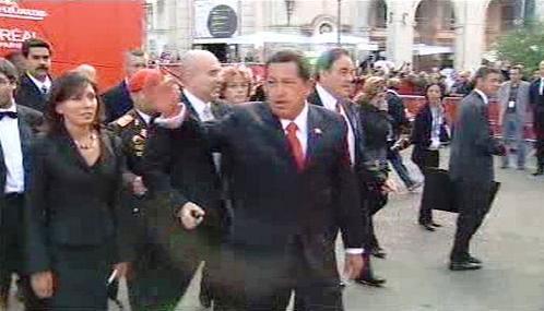 Hugo Chávez a Oliver Stone