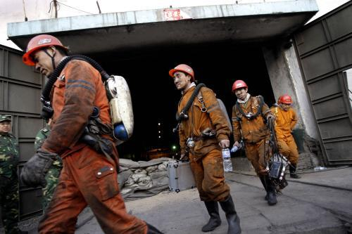Vyproštění čínští horníci