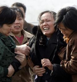 Plačící čínská žena