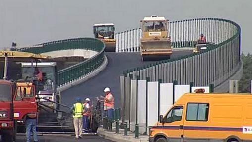 Stavba nového dálničního uzlu