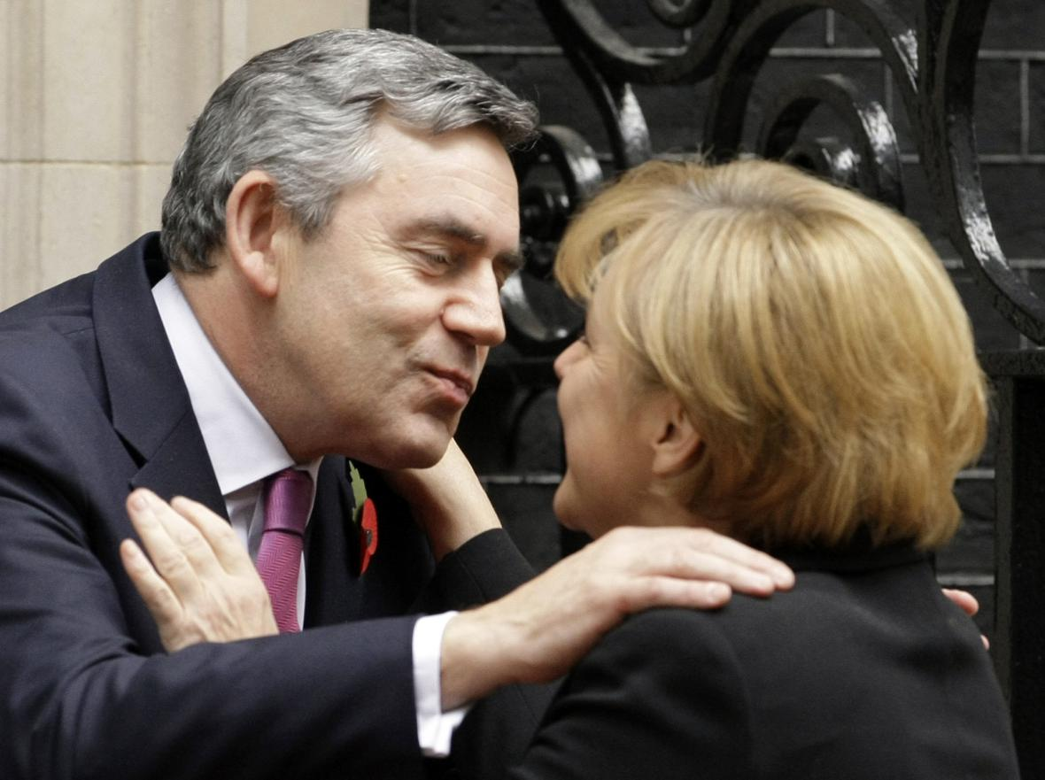 Angela Merkelová a Gordon Brown