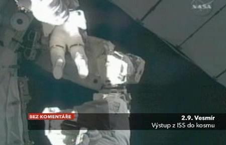 Práce astronautů ve vesmíru