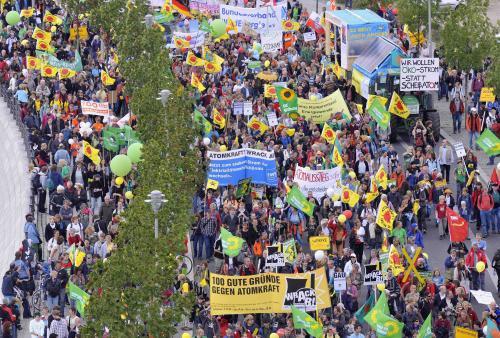 Demonstrace proti jaderné energii