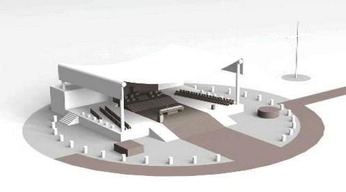 Pódium pro papežovu mši