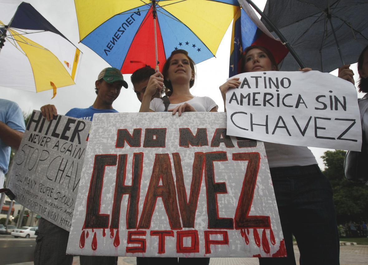 Protesty proti Chávezovi v Miami