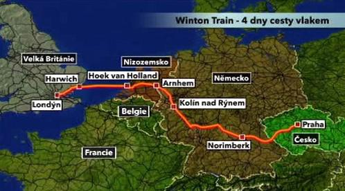 Trasa historického vlaku