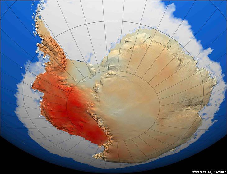 Antarktida se otepluje