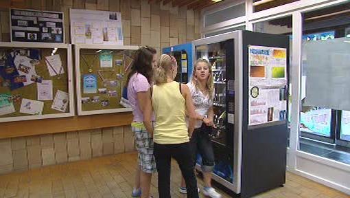 Automat na školní mléko