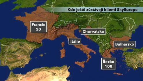 Kde ještě zůstávají klienti SkyEurope