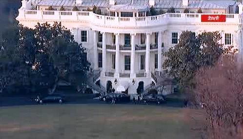 Obama přijel do Bílého domu
