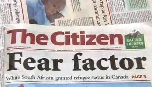 Jihoafrický tisk o Huntleyho případu