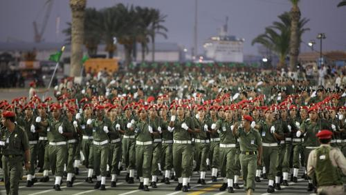 Vojenská přehlídka v Libyi