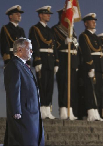 Lech Kyczyński na  Westerplatte