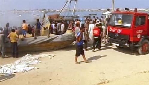 Hasiči u palestinského rybářského člunu