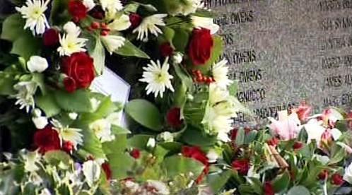 Památník se jmény obětí útoku v Lockerbie